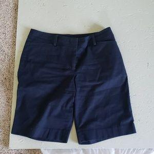 Navy blue shorts Talbots perfect shorts